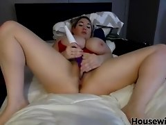 Great celebrity Cassandra Calogera with fantastic tits rides on a toy|1::Big Tits,20::MILF,25::Masturbation,46::Verified Amateurs,58::Celebrity