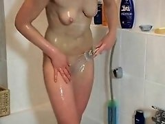 Juvenile German Legal Age Teenager-in bath- engulf and fuck