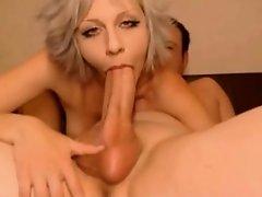 Pair fucking on web web camera and engulfing his large pecker #3