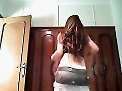 Brunette amateur belly dancing video of me in action