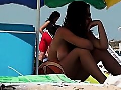 Topless Beach Angel Shows Great Couple Of Marangos On Clip