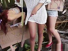 Three Naked Teen Hippies Get Fucked