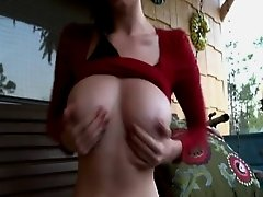 I'm masturbating on the terrace just for you