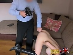 FakeAgentUK Anal casting with McKenzie Lee