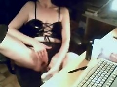 My mom masturbating at PC