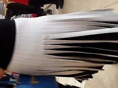 Black & White Pleated Skirt