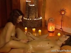 A Woman Massage And Relaxes Her Partner