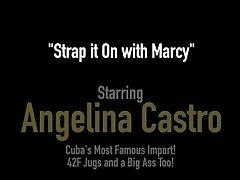 Phat Ass BBWs Angelina Castro & Marcy Diamond Strap-On Fuck