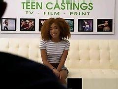 Ebony Teen Model Kendall Woods Has BDSM Casting