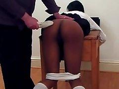 schoolgirl Cara wellspanked